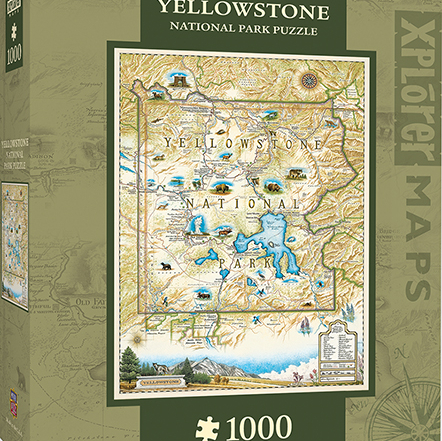 MasterPieces' Yellowstone Xplorer Maps Jigsaw Puzzle