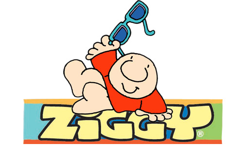 Logo for the cartoon character Ziggy